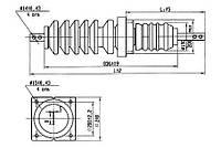 Изоляторы фарфоровые проходные ИП-35-400, Изолятор ИП-35/400-7,5 УХЛ1, Изоляторы ИП-35/400-7,5 УХЛ1