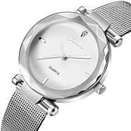 Женские часы Geneva Shine silver white, Жіночий наручний годиннк, наручные часы Женева, фото 3
