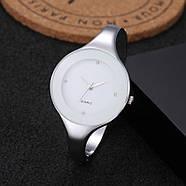 Женские часы браслет Kimio 16 см белый циферблат, фото 2