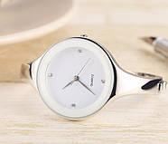 Женские часы браслет Kimio 16 см белый циферблат, фото 3