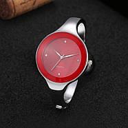 Женские часы браслет Kimio 16 см красный циферблат, фото 2