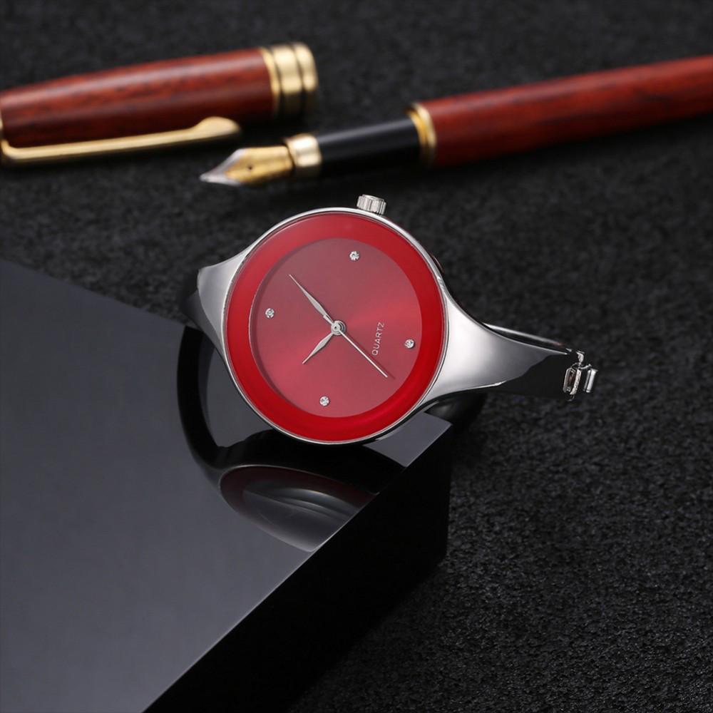 Женские часы браслет Kimio 16 см красный циферблат