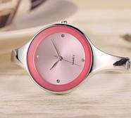 Женские часы браслет Kimio 16 см розовый циферблат, фото 2