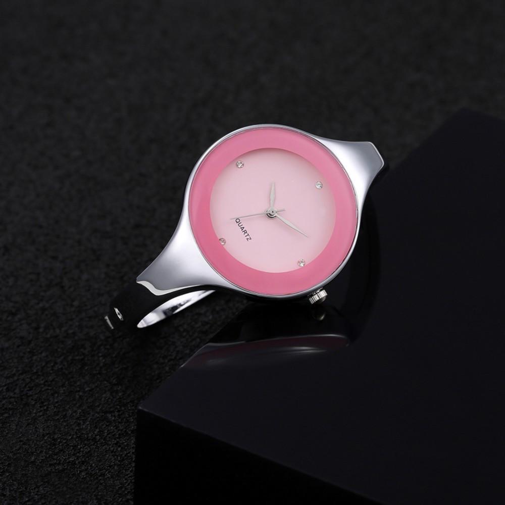 Женские часы браслет Kimio 16 см розовый циферблат