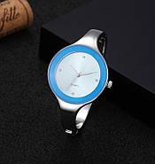 Женские часы браслет Kimio 16 см голубой циферблат, фото 2