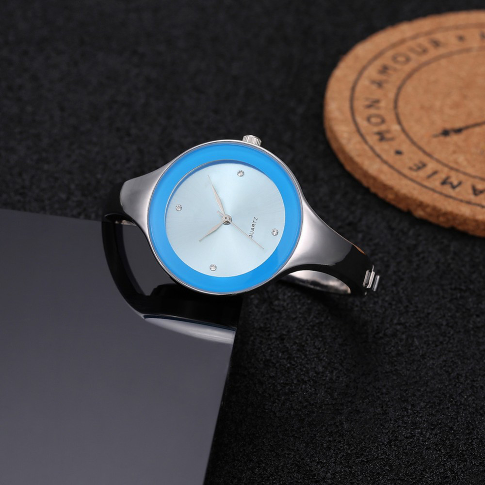 Женские часы браслет Kimio 16 см голубой циферблат