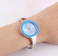 Женские часы браслет Kimio 16 см голубой циферблат, фото 3
