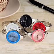 Женские часы браслет Kimio 16 см голубой циферблат, фото 6