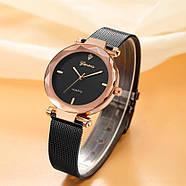 Женские часы Geneva Shine black rose gold, Жіночий наручний годинник, наручные часы Женева, фото 2