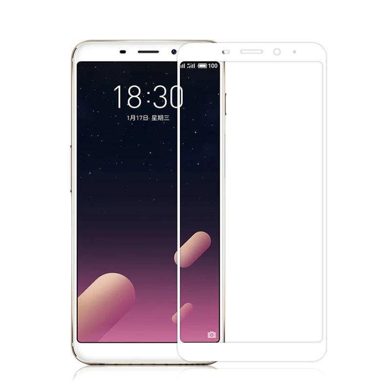 Защитное стекло Meizu M6s full cover white