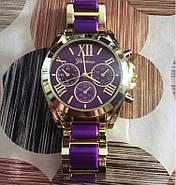 Женские часы Geneva Gold Pearl фиолетовые, фото 2