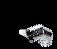 Версия-Люкс (Кривой-Рог) Колено 90, утепленное нерж/оцинк, толщина 0,8 мм, диаметр 150мм