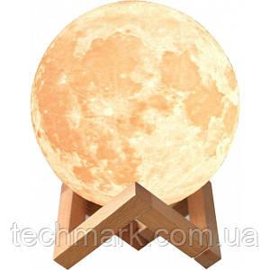 Светильник Ночник Месяц сенсорный 14см c пультом / Ночник Луна 3D