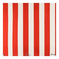 Ткань для штор ,красно-белая полоска