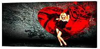 Картина на холсте Декор Карпаты Red 50х100 см (l549)