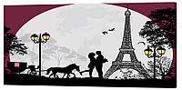 Картина на холсте Декор Карпаты Город любви 50х100 см (l192)
