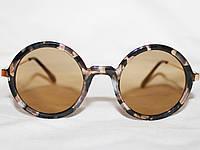 Очки в стиле Miu Miu 1287 золото коричневый зеркальные