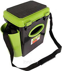 Зелёный зимний Ящик фишбокс односекционный на 10л зеленый