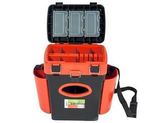 Ящик зимний Helios Fishbox 2 секции - 10 л (оранжевый)