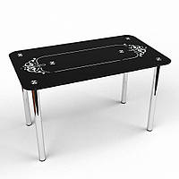 """Кухонный стол стеклянный """"Дуэт"""" стол для гостинной или кухни"""