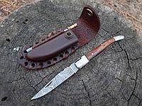 Нож складной  из дамасской стали+ точилка ручная работа ,эксклюзив