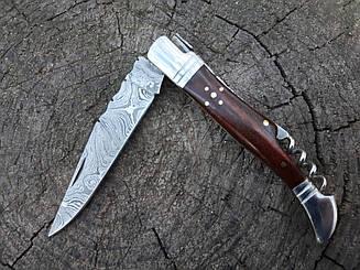 Нож складной  из дамасской стали ,эксклюзив s- 52