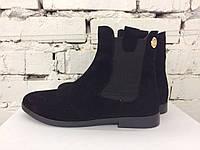 Женские зимние ботинки- Челси,  натуральной замш на овчине