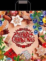 """Пакеты с петлевыми ручками  """"Счастливого Рождества"""" (38х42(+3)) 25 шт - 27"""