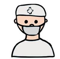 Маска медицинская одноразовая трехслойная на резинках