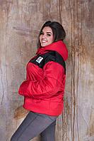 Куртка осень-весна Красная Большого размера