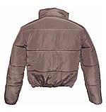 Коротка рожева куртка на силіконі, XS - L, фото 3
