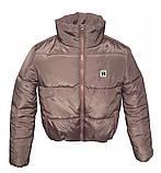 Коротка рожева куртка на силіконі, XS - L, фото 2