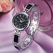 Женские часы Lupai серебряные с черным, жіночий годинник, наручные часы на браслете, фото 2