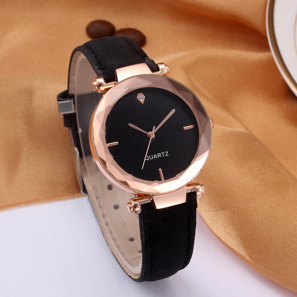Женские часы Geneva Shine black черные, жіночий наручний годинник, женские наручные часы на батарейке