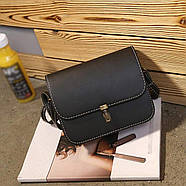 Женская сумка через плечо черного цвета, Жіноча сумочка, клатч, фото 3