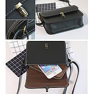 Женская сумка через плечо черного цвета, Жіноча сумочка, клатч, фото 4