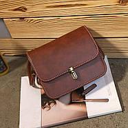 Женская сумка через плечо коричневого цвета, Жіноча сумочка, Клатч, фото 2