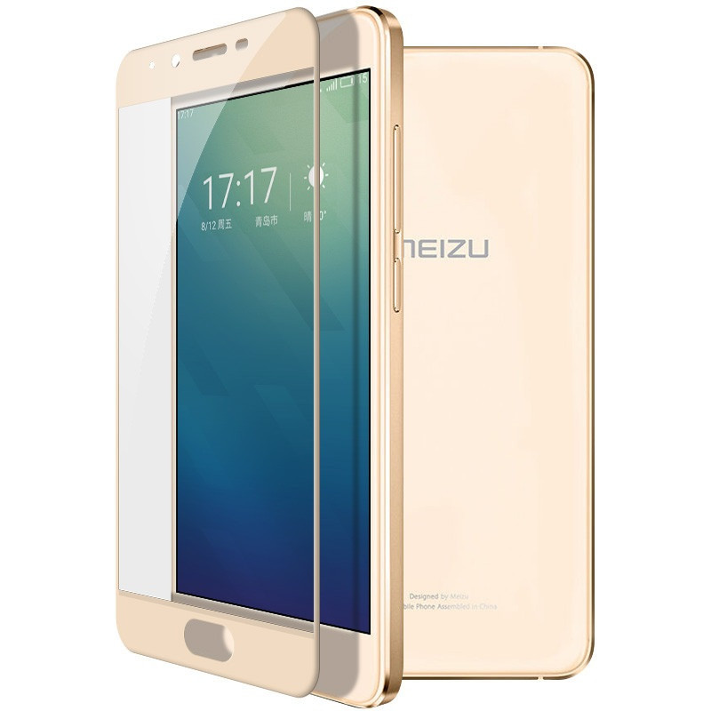 Защитное стекло Meizu U10 full cover gold