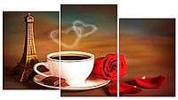 Модульная картина Декор Карпаты 100х53 см Чашка кофе (M3-t109)