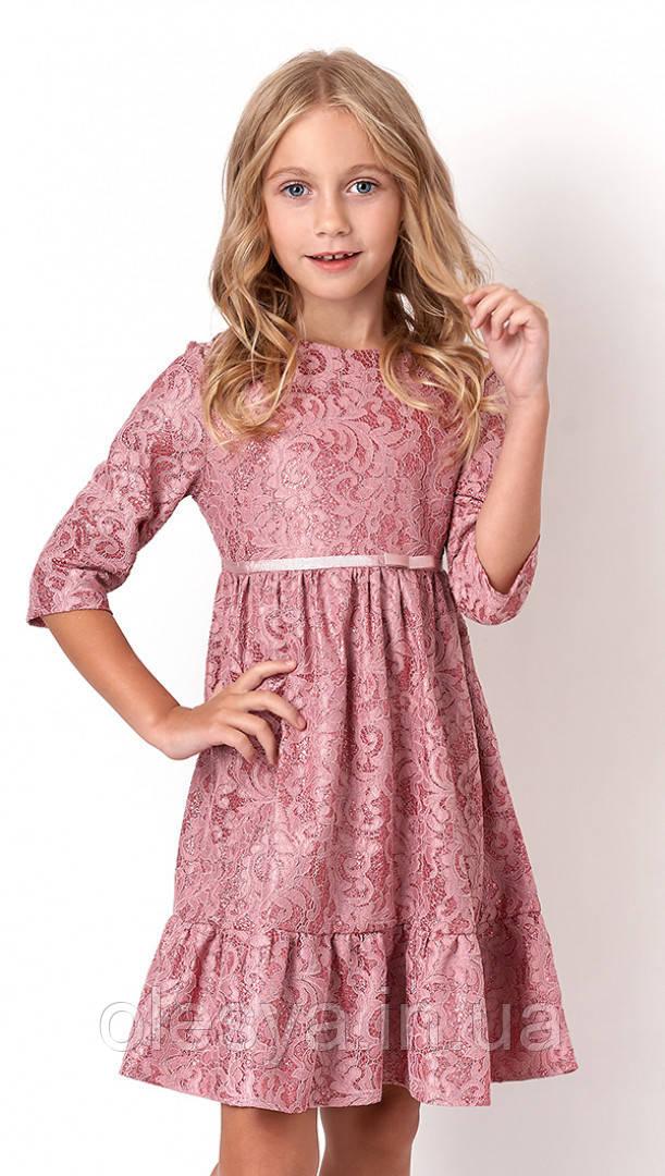 Платье нарядное кружевное для девочек tm Mevis 3131 Размеры 122 - 134