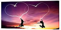 Картина на холсте Декор Карпаты Love 50х100 см (l135)