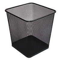 Корзина для бумаг, металлическая черная