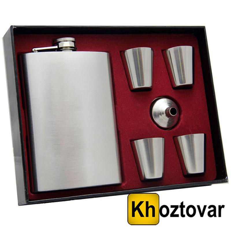 Чоловічий подарунковий набір фляга з чарками №TZ1
