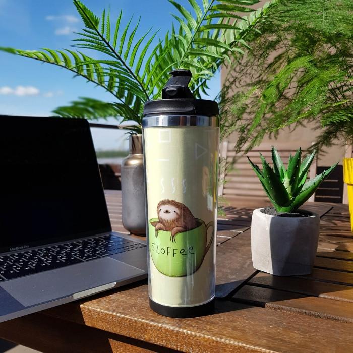 Термокружка  ZiZ Ленивый кофе
