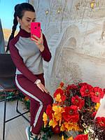 Бордовый костюм с серебряными вставками, фото 1