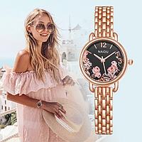 Женские наручные часы с цветочным принтом код 502