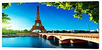Картина на холсте Декор Карпаты Париж 50х100 см (g1222)