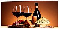 Картина на полотні Декор Карпати Вино 50х100 см (1306)
