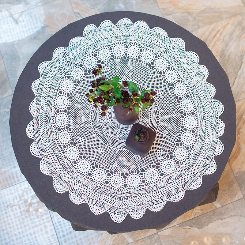 Скатерть Villa Grazia Ажур хлопковая круглая d85 см (4011-85RDE)