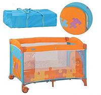Манеж оранж-голубой bambi (m 1703)